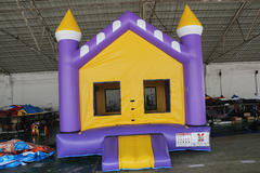 107 Purple and Yellow Castle  14X14