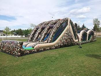 Mega Thrill Inflatable Obstacle Course slide