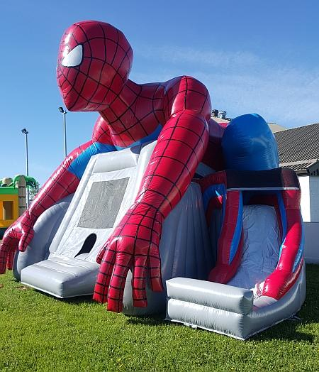Spiderman Theme Bouncy Castle with Slide