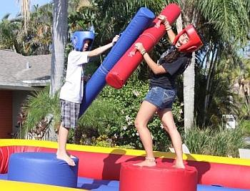Inflatable Joust Game rental from bounceroo.ca