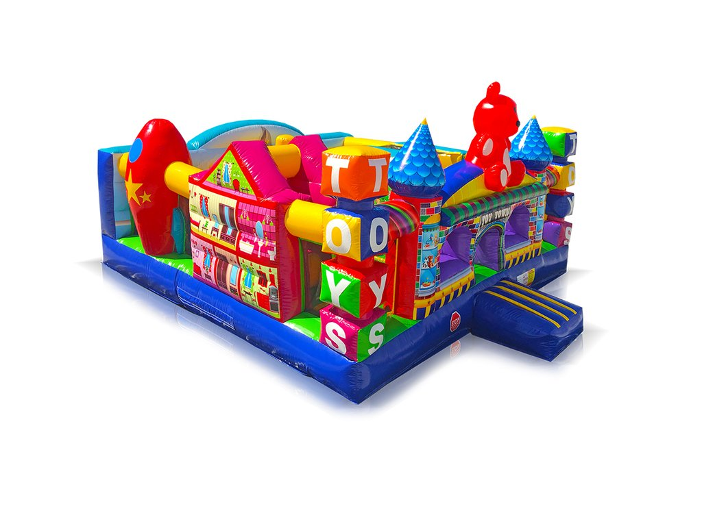 Rent a Toy Town toddler inflatable from Bounceroo.ca