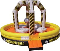 "<b><font color=red><b>Inflatable Wrecking Ball Game</font><br><small><font color=blue>New for 2019!</font><br>Minimum player height 44""</b></small>"