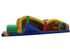 "<b><font color=""red"">Extreme Rush Obstacle Course</font><br><small><font color=""blue"">Rent this challenging 40ft obstacle</font><br>A great choice for a mid sized obstacle</small></b>"
