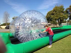"<b><font color=""red"">Rat Race Zorb Ball Racing</font><br><small><font color=""blue"">An event favourite!</font><br>Rental includes trained operators</small></b>"