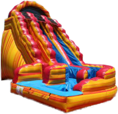 9A - 19' Wild Rapids Water Slide Fire and Ice (color / shape may vary)