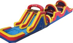 14A - 74' Double Trouble Obstacle Course Water Slide