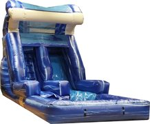 8A - 14' Blue Surf Water Slide