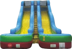 18FT RETRO DUAL LANE SLIDE WET/DRY