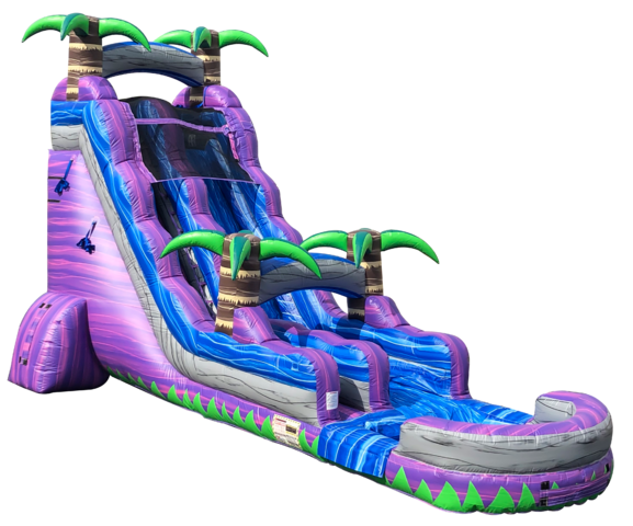 22FT PURPLE PARADISE SLIDE W/ POOL