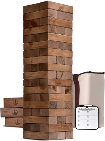 GIANT JENGA TUMBLING TOWER BLOCKS