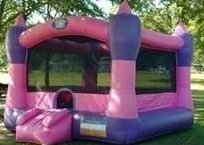 USED PINK CASTLE BOUNCE HOUSE