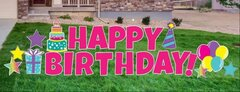 "Happy Birthday in PinkAdd a ""Custom Name"" for an add'l fee"
