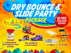 1 DRY BOUNCE SLIDE PARTY PACKAGE