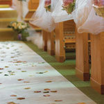 25'  Aisle Runner - Polyester-  White Only