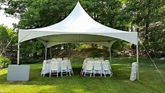 20' x 20' Tent PackageIncludes 6 Tables and 40 Chairs