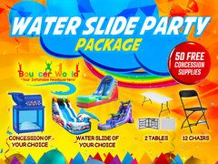 1 WATER SLIDE PARTY PACKAGE