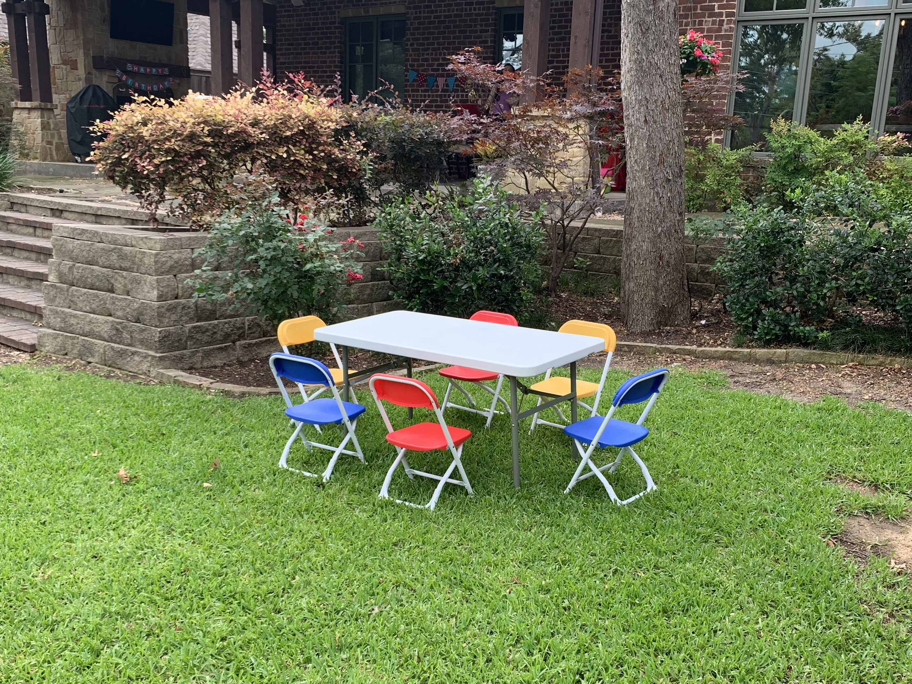 kids table and chair rental Dallas TX
