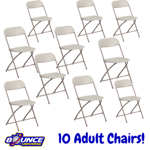 Beige Folding Chairs - Bundles of 10