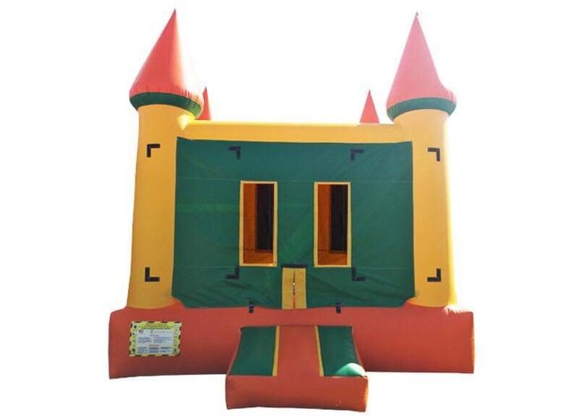 Orange Castle Jumpy House