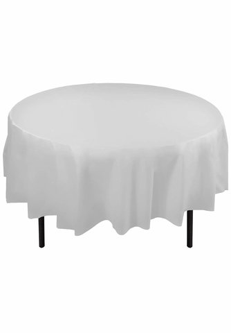 White Plastic Tablecloth 84