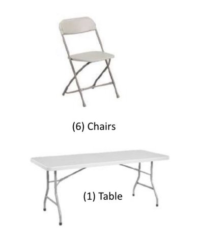 Table and Chair Package Deal 6ft.