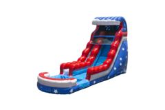18' Stars & Stripes Water Slide Rental