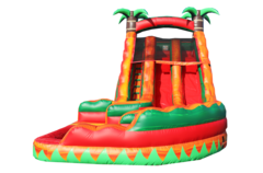 18' Dual Tropical Fiesta Breeze Curvy Water Slide