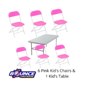 Kid's Table and Chair Set (Pink Only)