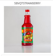 Sno Cone Supplies & Quart Size Strawberry