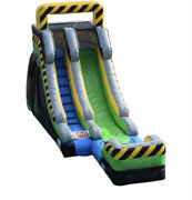 15' Caution Water Slide