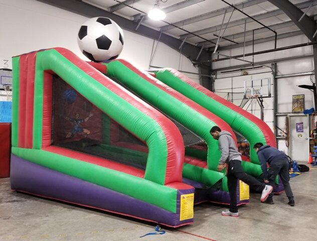 inflatable soccer game rental