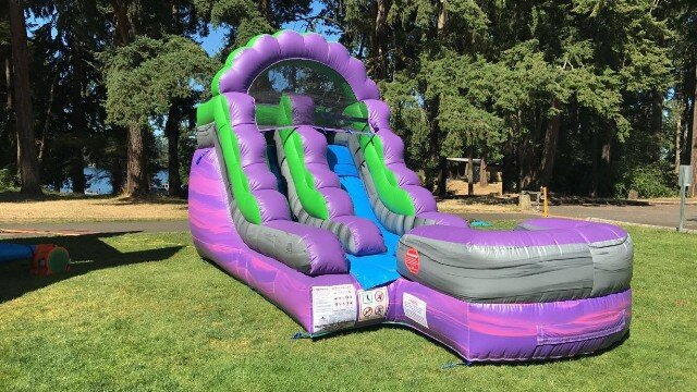 Purple Crush pre-teen water slide rental