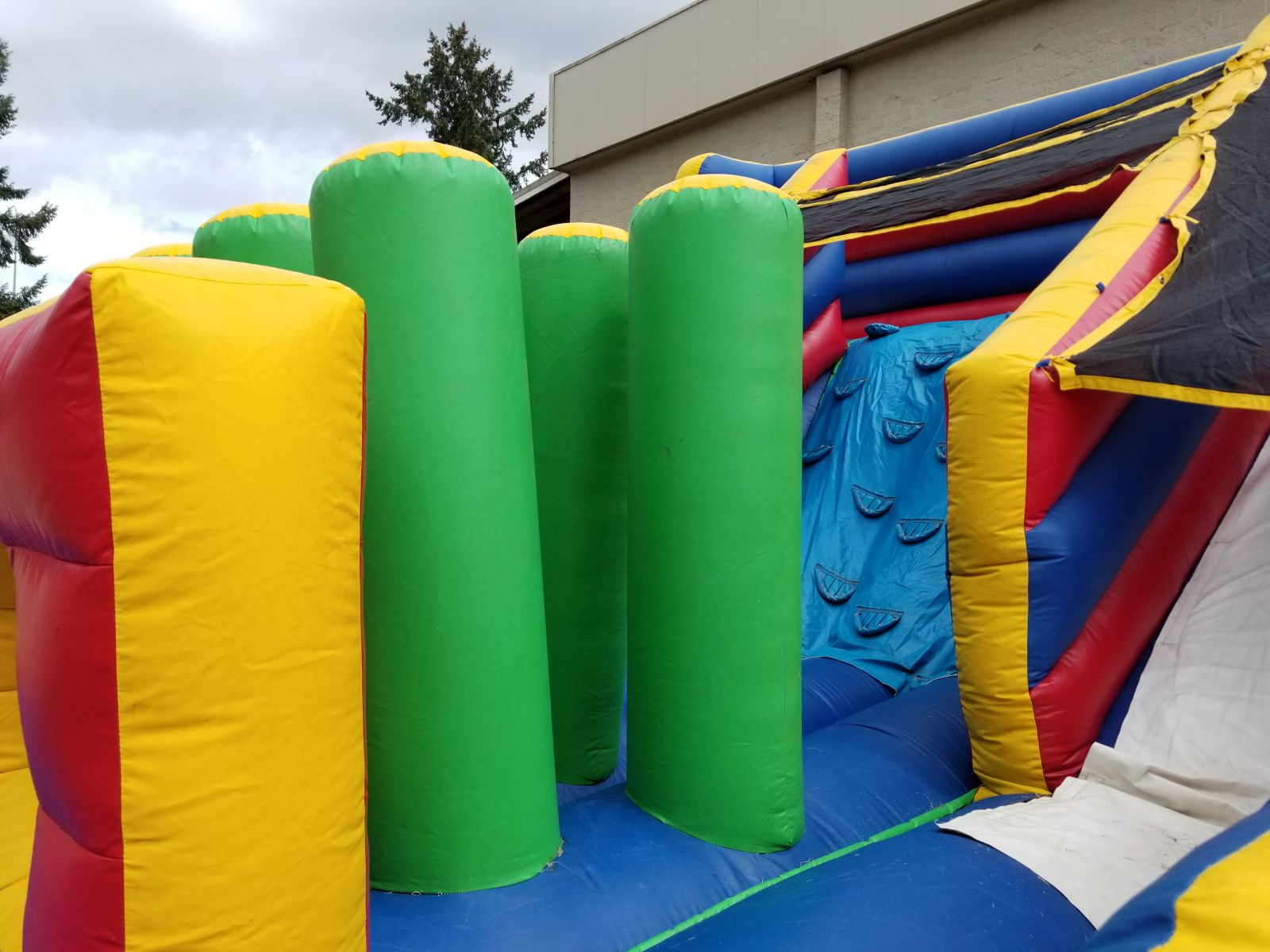 obstacle course slide combo rental