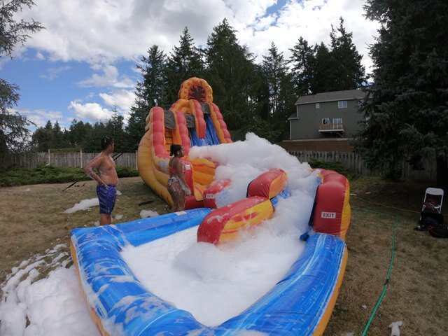 34' Fire and Ice Slide with Foam