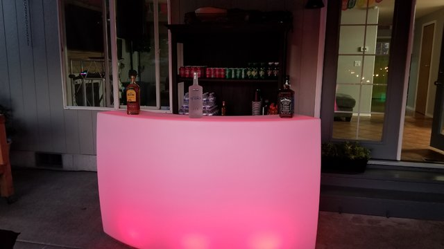 LED Light Changing Curved Portable Bar
