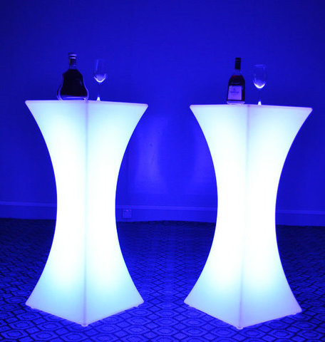LED Light Changing Cocktail Tables