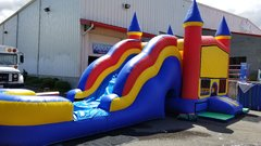 Blue Castle Water Wave Slide Combo