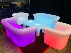 LED Light Changing Lounge Furniture Package