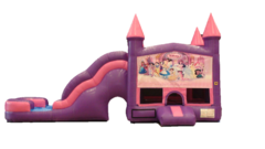 Pink Castle Water Wave Slide Combo