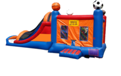 Sports Bounce House Water Slide Combo