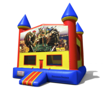 (C) Teenage Mutant Ninja Turtles Castle Bounce House
