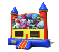 (C) Trolls Castle Bounce House