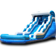 (B) 18ft Blue Wave Wet-Dry Slide