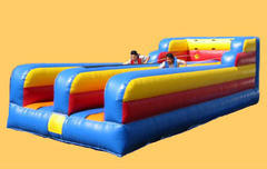 "<font color=red><b>Bungee Run <br></font></b><small>Best for ages 15+ <font color=red> |</font><font color=""orange""><b>1 Outlet Needed</font><br><font color=blue> Size 30 x 11 x8</font>"
