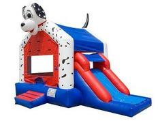 "<font color=red><b>Dalmatian Slide Combo<br></font></b><small>Best for ages 5+ and Up<font color=red> |</font><font color=""orange""><b>1 Outlet Needed</font><br><font color=blue> Size 20 x 15 x14</font>"