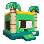 "<font color=red><b>Palm Tree Bounce House<br></font></b><small>Best for ages 2+ and Up<font color=red> |</font><font color=""orange""><b>1 Outlet Needed</font><br><font color=blue> Size 15 x 15 x15</font>"