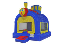 "<font color=red><b>Train Bounce House<br></font></b><small>Best for ages 2+ and Up<font color=red> |</font><font color=""orange""><b>1 Outlet Needed</font><br><font color=blue> Size 15 x 15 x15</font>"