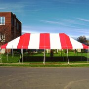 20x40 Red & White Pole Tent