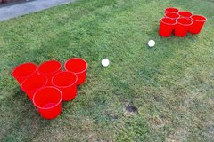<font color=red><b>Giant Yard Pong<br></font></b><small>Best for ages 21+ and Up<font color=red><br><font color=blue> Size 20 x 20 x7</font>