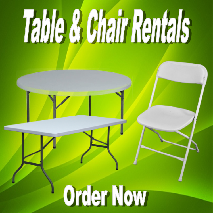 Table & Chairs Rentals | Bouncing All Around & Party Rentals